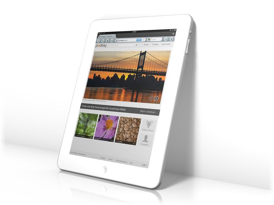 Tablet, iPad, Bildschirm, Internet, Browser, Online