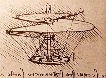 Leonardo da Vinci: Entwurf eines Helikopters